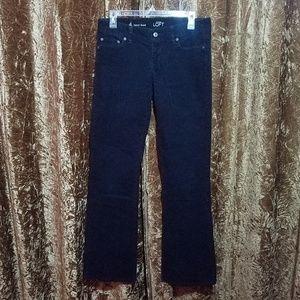 Ann Taylor Loft Black Corduroy Curvy Boot Jeans 4